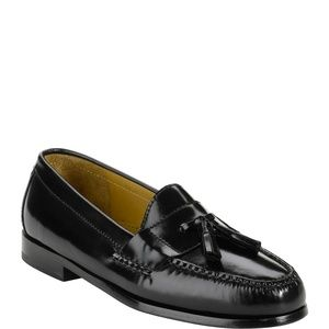 Cole Haan Pinch Tassel Loafers Black NEW IN BOX